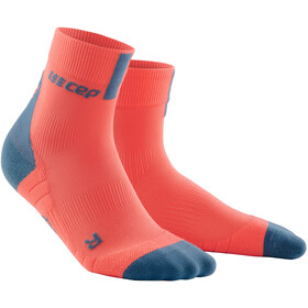 cep Short Socks 3.0 Heren, coral/grey